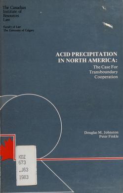 Cover of: Acid precipitation in North America | Douglas M. Johnston