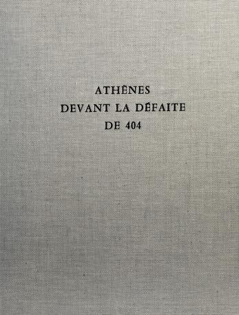 Cover of: Athènes devant la défaite de 404 | Edmond Lévy