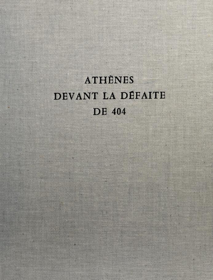 Athènes devant la défaite de 404 by Edmond Lévy