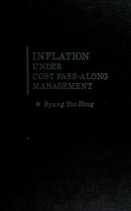 Cover of: Inflation under cost pass-along management | Byung Yoo Hong