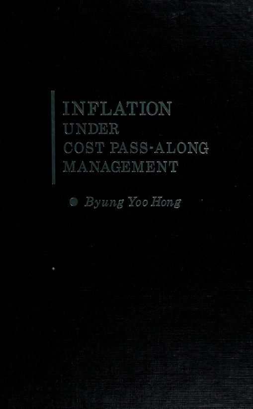 Inflation under cost pass-along management by Byung Yoo Hong