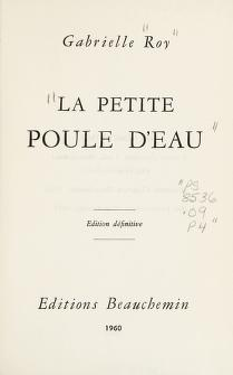 Cover of: La Petite Poule d'Eau | Roy, Gabrielle