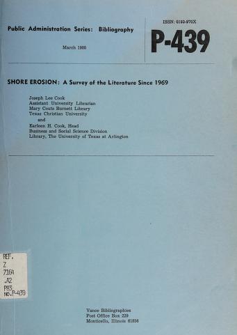 Cover of: Shore erosion | Joseph Lee Cook