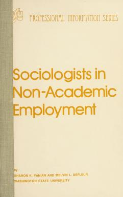 Cover of: Sociologists in non-academic employment | Sharon K. Panian